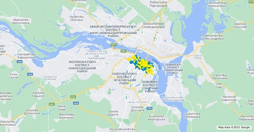 У Дніпрі представили онлайн-мапу паркувального простору міста