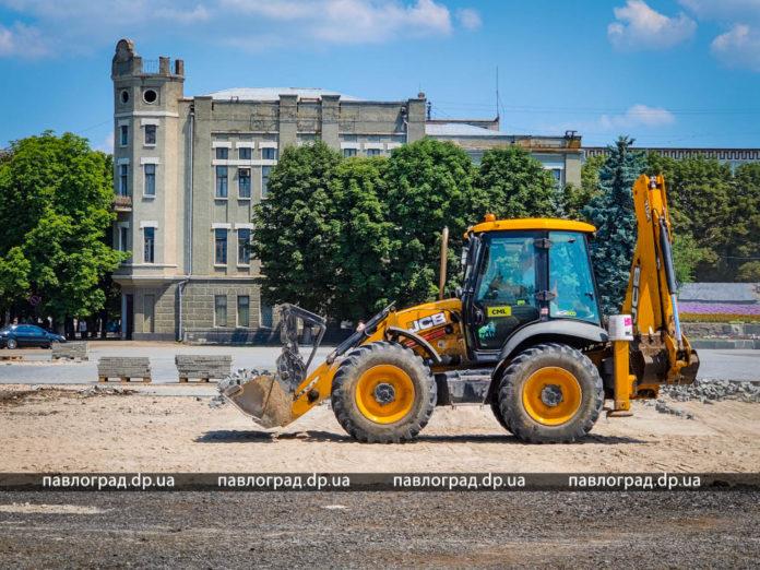У Павлограді почався новий етап реконструкції головної площі
