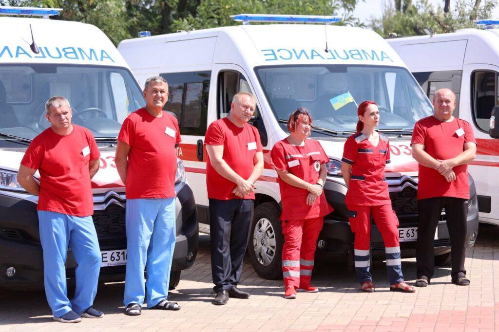 Нікопольська станція екстреної меддопомоги отримала 22 «швидкі» Citroen Jumper