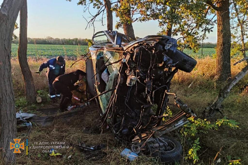 На Дніпропетровщині німецький автомобіль не витримав міцності українських дерев